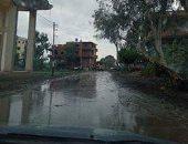 تجمعات كثيفة لمياه الأمطار والصرف الصحي بقرية شباس عمير بكفر الشيخ