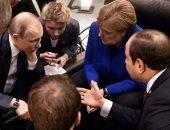 رئيس وزراء إيطاليا ينشر صور مباحثات بين قادة العالم بحضور السيسى فى برلين