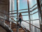 """شيرى عادل """"بتصبح"""" على جمهورها بصورة من أعلى برج خليفة..فيديو"""