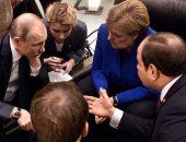 الرئيس السيسى يبحث مع قادة العالم تطورات الأزمة فى ليبيا.. صور