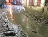غرق قرية خباطة بالغربية فى مياه الصرف الصحى