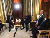 شكرى يلتقى نظيره الإيطالى على هامش فعاليات قمة مؤتمر برلين حول ليبيا
