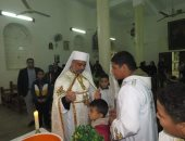 مطران طيبة يترأس قداس عيد الظهور الإلهى فى أرمنت الحيط بالأقصر