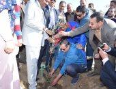 """صور.. إطلاق مبادرة """"هنجملها"""" لزراعة 500 شجرة مثمرة بجامعة سوهاج"""