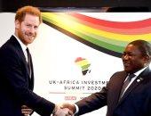 رغم قبول تنحيه ملكيا.. الأمير هارى يشارك في قمة الاستثمار البريطانى - الأفريقية