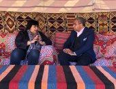 """سمير عمر يحاور وزيرة الثقافة ويلتقى مبدعات أوركسترا الكفيفات بـ""""أهل مصر"""""""