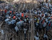 مصرع 10 بعد انهيار منصة بمهرجان تميكات بأثيوبيا .. صور