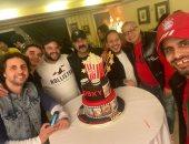 """كريم عفيفي يظهر في صورة مع نجوم مسرح مصر ومحمد سعد.. ويعلق: """"الناس الحلوة"""""""