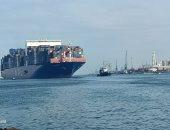 ميناء غرب بورسعيد يستقبل أكبر سفينة للحاويات منذ إنشاء الرصيف.. صور