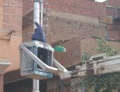 تركيب 205 أعمدة إنارة بالطرق الرئيسية والفرعية المؤدية لمدينة بلبيس