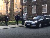 السيسى يصل مقر رئاسة الوزراء فى لندن للقاء رئيس الوزراء البريطانى