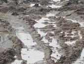 """""""سيبها علينا"""".. قارئة تطالب برصف طريق متهالك بسبب تراكم مياه الأمطار"""