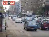 فيديو.. ازدحام مروري بشارع جامعة الدول العربية