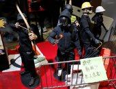 صور.. معرض لبيع أدوات الإحتجاج فى هونج كونج