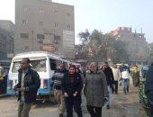 نائب محافظ القاهرة توجه بتطوير شارع الحرير وتطهير المصرف بحلوان