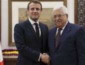 الرئيس الفلسطينى محمود عباس يستقبل نظيره الفرنسى ماكرون فى الضفة الغربية
