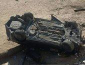 مصرع 3 أشخاص وإصابة اثنين فى انقلاب سيارة على طريق الإسماعيلية القاهرة