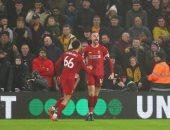 """وولفرهامبتون ضد ليفربول.. رأسية هيندرسون تتقدم للريدز فى الدقيقة 8 """"فيديو"""""""