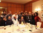 """صلاح عبد الله وسليمان عيد يحتفلان بانتهاء تصوير """"بيضة دهب"""""""