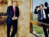 أوباما يتجسس على ترامب فى صورة نشرها الرئيس الأمريكى.. اعرف التفاصيل