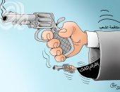 كاريكاتير صحيفة عراقية.. الطرف الثالث يؤجج العنف