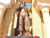 """لحظة افتتاح """"النصب التذكارى"""" بالأقصر والتحية العسكرية للشهداء..صور"""