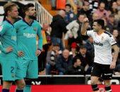 """فالنسيا ضد برشلونة.. البارسا يتلقى الهدف الثانى فى الدقيقة 77 """"فيديو"""""""