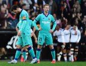 برشلونة يسقط بثنائية أمام فالنسيا فى الدوري الإسباني