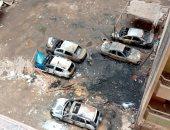 صور.. مالك سيارة تفحمت فى الهرم : اتهمنا مسئول الجراج بالتسبب فى الحريق