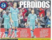 سقوط برشلونة ضد فالنسيا يتصدر عناوين الصحف الإسبانية.. صور