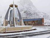 """قارئ يشارك بصور لـ""""الثلوج"""" تغطى سانت كاترين"""