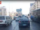 النشرة المرورية.. كثافات مرتفعة بمحاور القاهرة والجيزة
