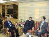 وزير العدل يستقبل سفير دولة ألمانيا لبحث التعاون القضائى