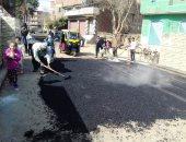 صور.. مديرية الطرق بالمنوفية تواصل دعمها لتطوير مداخل القرى