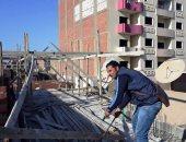 صور.. إيقاف 8 حالات بناء مخالف فى حى شرق بسوهاج