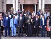 البابا تواضروس لوفد أفريقى: نعيش مسلمين ومسيحيين معا ونحارب الإرهاب مع الأزهر