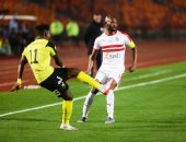 صور.. شيكا ومصطفى محمد وزيزو وأوناجم فى هجوم الزمالك أمام دجلة