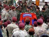 قوات الكوماندوز الأمريكية تشارك فى احتفال بنهاية مناورات فى كولومبيا