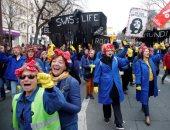 مظاهرات ضد مشروع إصلاح قانون المعاشات فى فرنسا