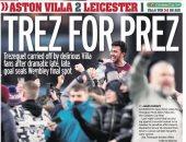 تريزيجيه عريس صحف إنجلترا بعد قيادة أستون فيلا لنهائى كأس الرابطة.. صور