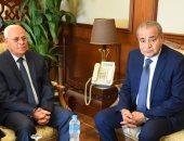 محافظ بورسعيد يستقبل وزير التموين لافتتاح عدد من المشروعات.. صور