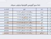ننشر خط سير أتوبيس التوعية والتسجيل بمنظومة التأمين الصحى بجنوب سيناء