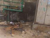 """كسر ماسورة مياه أمام كابينة كهرباء.. شكوى """"هشام"""" من النهضة حى السلام"""