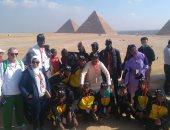 وفد دورة الألعاب الإقليمية الأفريقية للأولمبياد يزور أهرامات الجيزة.. صور