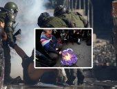 """صور .. العالم هذا الصباح.. تجدد الاشتباكات بين قوات الأمن والمتظاهرين فى تشيلى.. احتفالات البريطانيين بالخروج من الاتحاد الأوروبى.. إجراءات احترازية في مطار مكسيكو سيتي بسبب """"كورونا"""""""