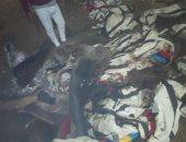 صور.. حريق هائل يلتهم المسجد العمري بقرية قويسنا البلد بالمنوفية