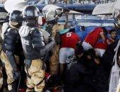 شاهد.. لاعبو الأهلى تحت حماية الجيش السودانى بعد مباراة الهلال