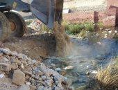 صور.. تنفيذ حملة ردم برك مياه جوفية بمناطق المساعيد بالعريش