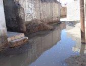 كسر ماسورة مياه وغرق شوارع قرية التلات بمحافظة الشرقية