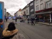 صور.. عملية طعن فى بلجيكا والشرطة تطلق النار على الجانى
